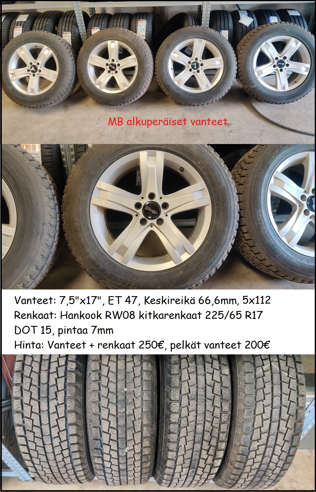 """Mercedes aluvanteet 17"""", 5x112"""